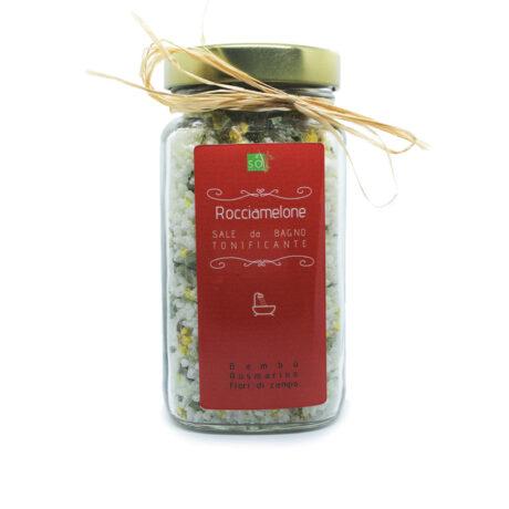 """SOGREEN Sale da bagno """"Rocciamelone"""" tonificante al bambù e fiori di campo, profumato al rosmarino"""